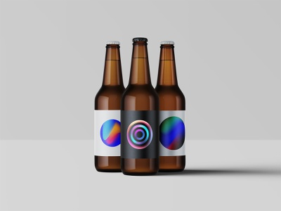 Gradient Mess Labels illustraion packaging ambient space colourful gradient gradient color bottle package label design label artwork beer concept graphic design dribble designer