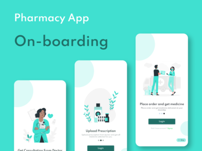 Pharmacy App Ob-boarding UI Design application ui design ui  ux ui app design illustration oboarding app design uiux uidesign