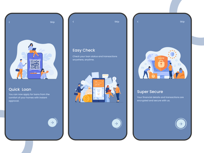Onboarding Loan App ux app ui design