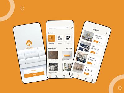 Woodley Furniture ui app branding ux design
