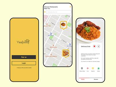 YesJollof Food App app ui design