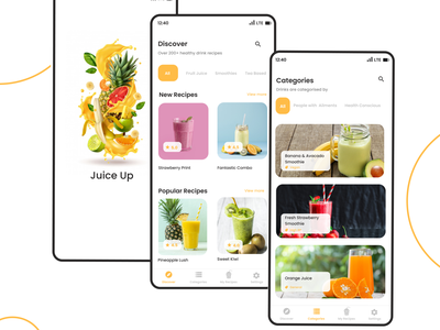 Juice Up: Healthy Drink App smoothie app drink app app design