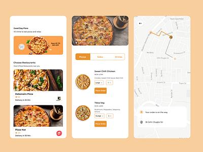 Pizza App Delivery pizza app ux ui app design