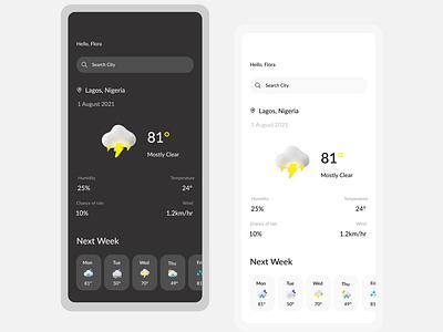 Weather App weather app app ui design