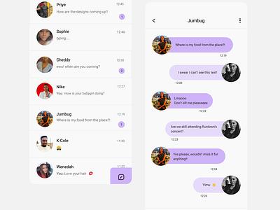 Messenger App messenger app app ui design