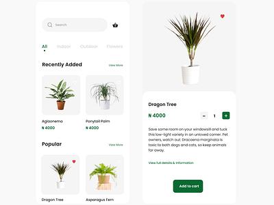 Plant App plant app ux app ui design