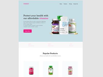 Health Landing Page health landing page ui ux web app design