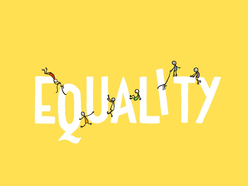 Equality human rainbow lgbt inequality equality polish psychology hand drawn handlettering illustration