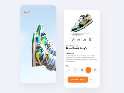 Sneakers store 👟 sneakers nike app design modern flat ux application app ui design logo ui design