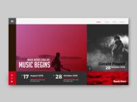 Music concert web concept