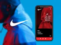 Nike Tech Pack_web concept mobile version