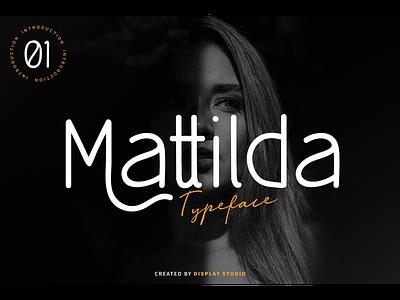 Mattilda Font logotype fonts font typeface branding italic sans serif mattilda