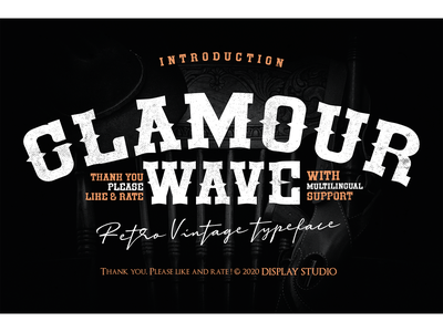 Glamour Wave Font typeface brand logotype retro vintage fonts branding decorative display glamour wave
