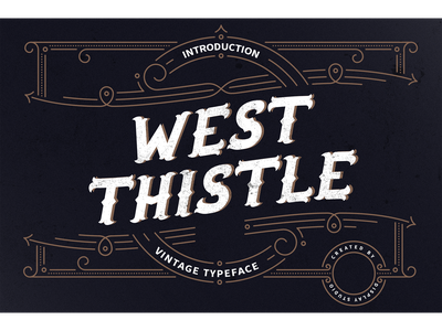 West Thistle Font typeface logotype fonts branding decorative display vintage west thistle