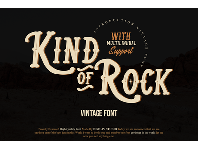Kind of Rock Font foundry foodies clothing typeface logotype fonts branding decorative display vintage kind of rock