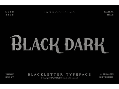Black Dark Font landmark clothing logotype branding display fonts blackletter black dark