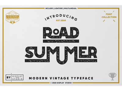 Road Summer Font foundry foodies typecace font fonts logotype branding display modern vintage road summer