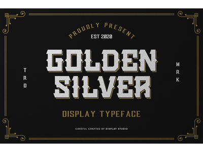 Golden Silver Font italic font fonts typeface logotype branding decorative display golden silver