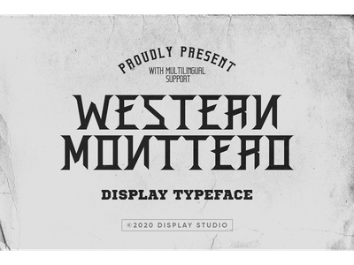 Western Monttero Font clothing italic font fonts typeface logotype branding decorative display western monttero