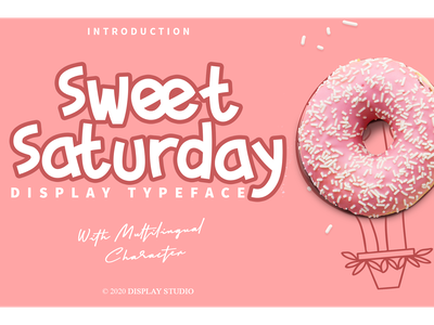 Sweet Saturday Font fun cute foodies logotype branding decorative display sweet saturday