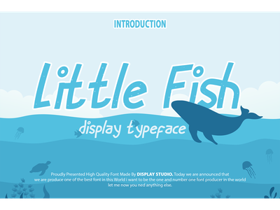 Little Fish Font magazine clothing foodies logotype branding decorative display little fish