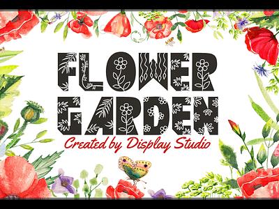 Flower Garden Font modern greeting decorative font logotype branding display flower garden