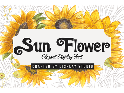 Sun Flower Font typeface summer decorative logotype font branding display elegant sun flower