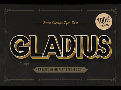 Gladius Font decorative logotype branding typeface display vintage retro freebies free font gladius