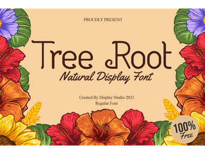 Tree Root Font green party decorative logotype branding natural display font freebies free tree root