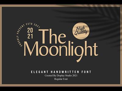 The Moonlight Font typeface logotype branding handwritten script elegant font the moonlight