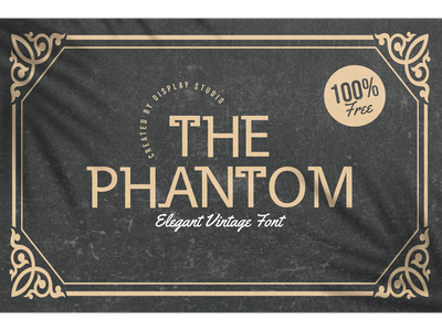 The Phantom Font decorative logotype branding elegant display font vintage retro freebies free the phantom