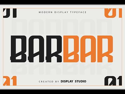 Barbar Font typeface fancy modern logotype branding decorative display font barbar