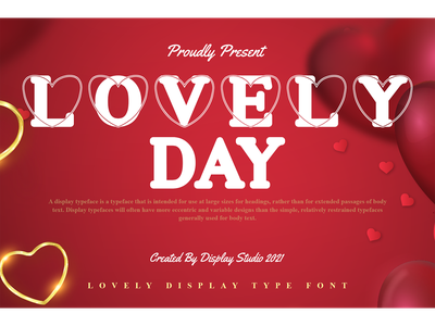 Lovely Day Font unique typeface fancy modern valentine logotype branding decorative display font lovely day