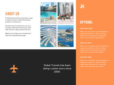 Dubai Travel Brochure Design travel agency brochure design brochure mockup brochure logodesign logo creative design graphicdesign design creative business branding brand identity