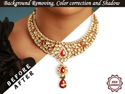 Jwellery Background Removing & Retouch object removing shadow image background background removal color correction retouche photo