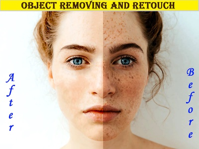 Object Removing from model image and Retouch background removal color correction watermark removal retouche photo object removing