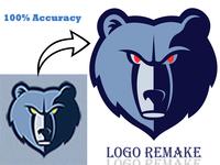 Logo Remake design logo color correction background removal logo remake logo redesign logo rebrand