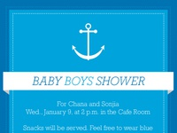 Blue-Themed Combined Baby Shower Invite