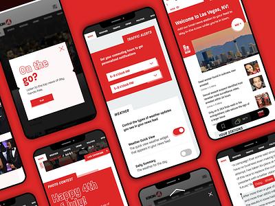 Nexstar News App graphicdesign mobile mobileappdesign mobileapp app design