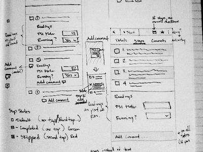 Mobile Application UI Sketches