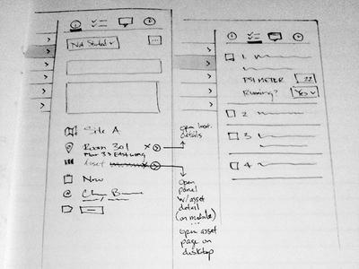 Desktop Application UI Sketches (Partial View)