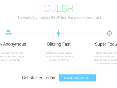 CUL8R - The world's simplest RSVP list