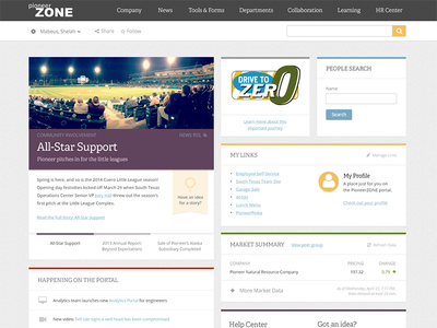 Intranet Homepage - Sharepoint! homepage intranet