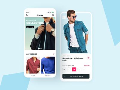 Men Clothing App uiux shopping clean creative clothingdesign mobile app minimal interface mobile designagency store ux ecommerce fashion design clothing design outfit ui men clothing
