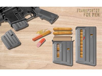 Franfurter for men package packaging polygraphy printing package design design