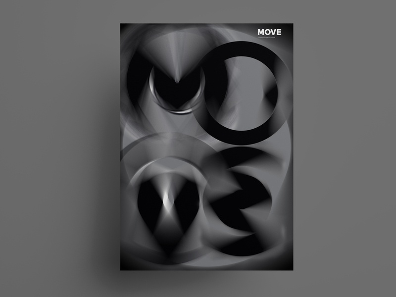 MOVE poster design typography