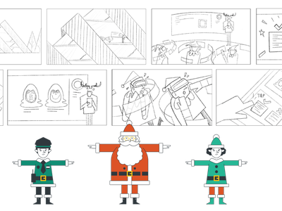 Rapid7 Project - Character Design and Haxmas story board animation graphic design illustration design branding