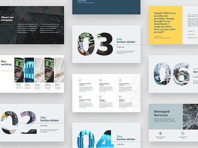Rapid7 Project - Presentation template design prints decks presentation website design graphic design design branding