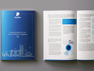 Paypal Project - Financial Health Report report flyer prints graphic design design branding