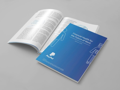 PayPal Project - Future of Work Report flyer prints illustration graphic design design branding